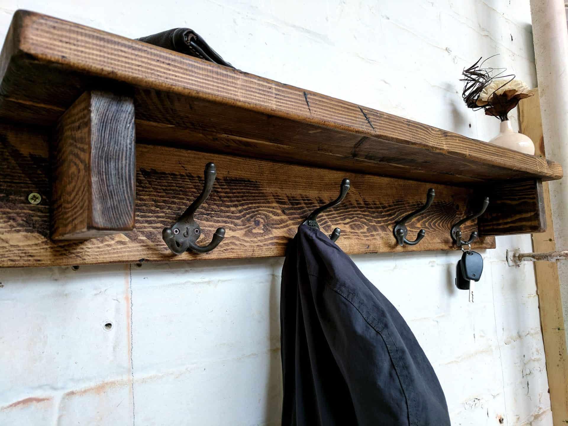 Rustic coat hooks