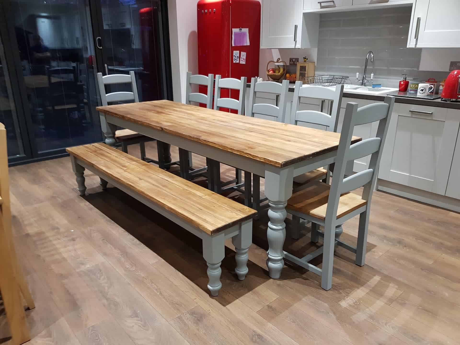 Farmhouse Table with shaker chairs