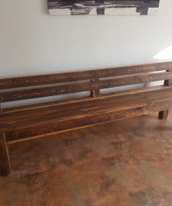 Sherwood plank backed bench