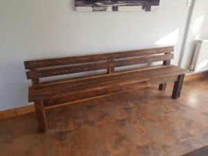 Sherwood plank backed bench