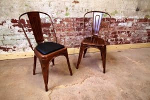 Medan Chairs in Rustic Copper