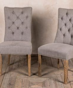 Button Back upholstered chairs