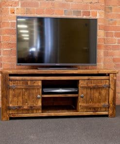 Medium Rustic Plank Tv Unit