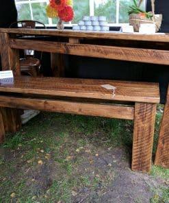 Sherwood Plank Rustic Bench