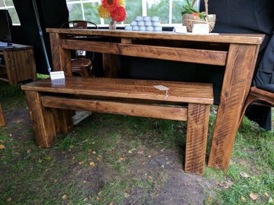 Sherwood Plank Rustic Bench