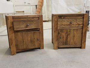 Hardwick Rustic Plank Bed side Unit