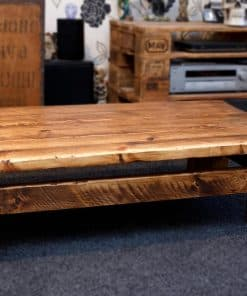 Low Rustic Plank Sherwood Coffee Table