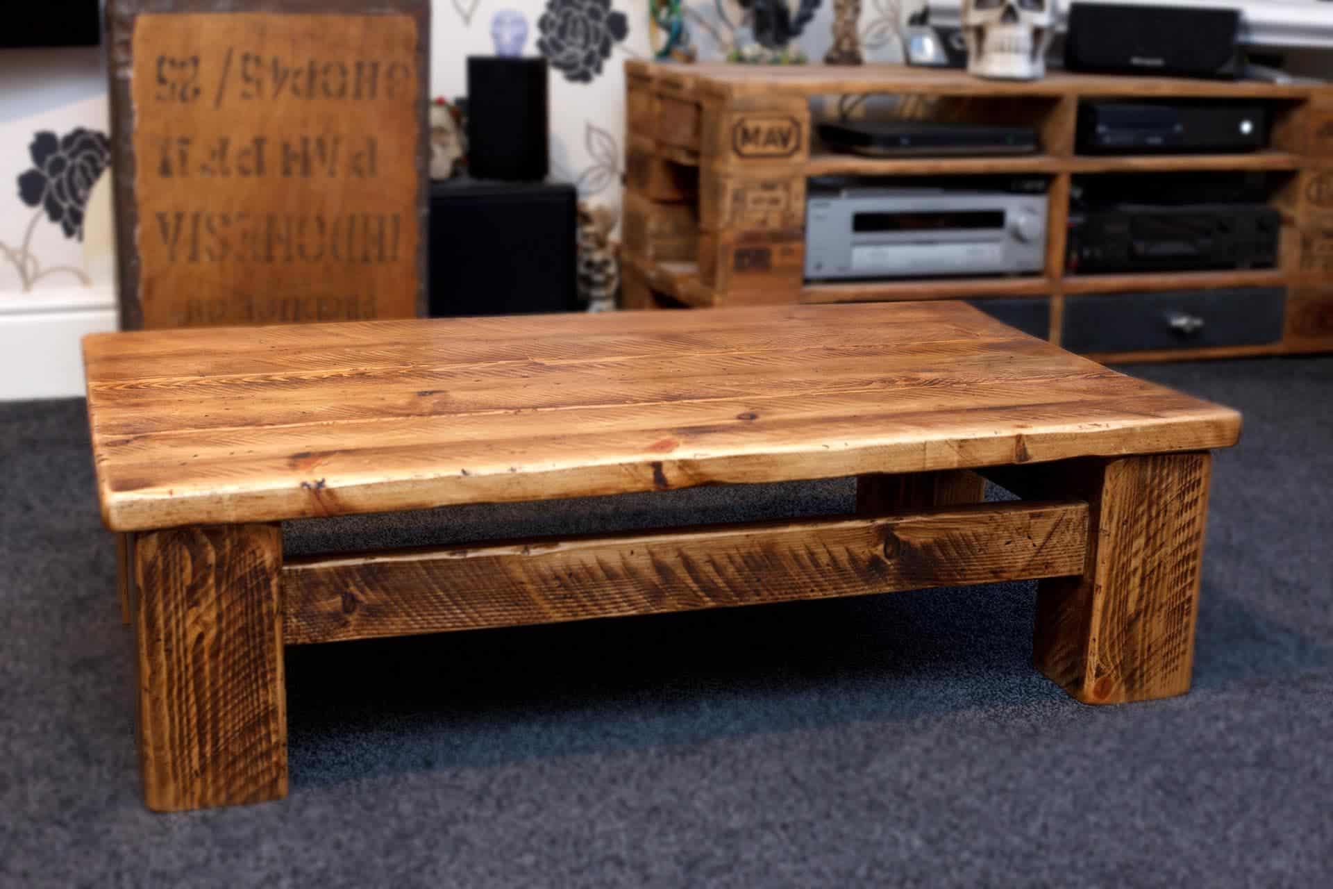 Low Rustic Plank Sherwood Coffee Table