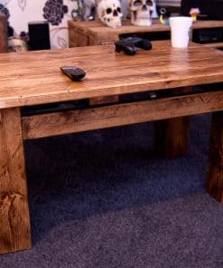 Sherwood Plank Rustic Coffee Table, Tall one