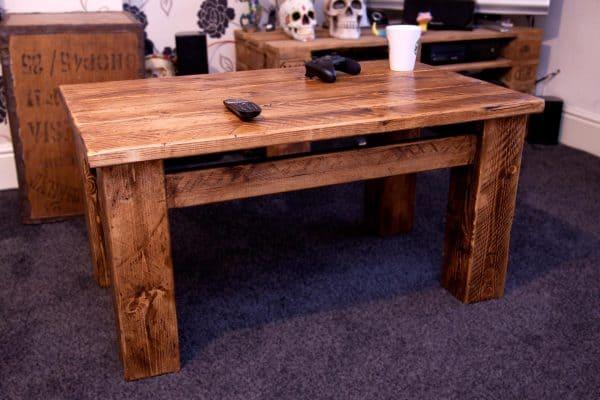 Sherwood Plank Rustic Coffee Table, Tall one