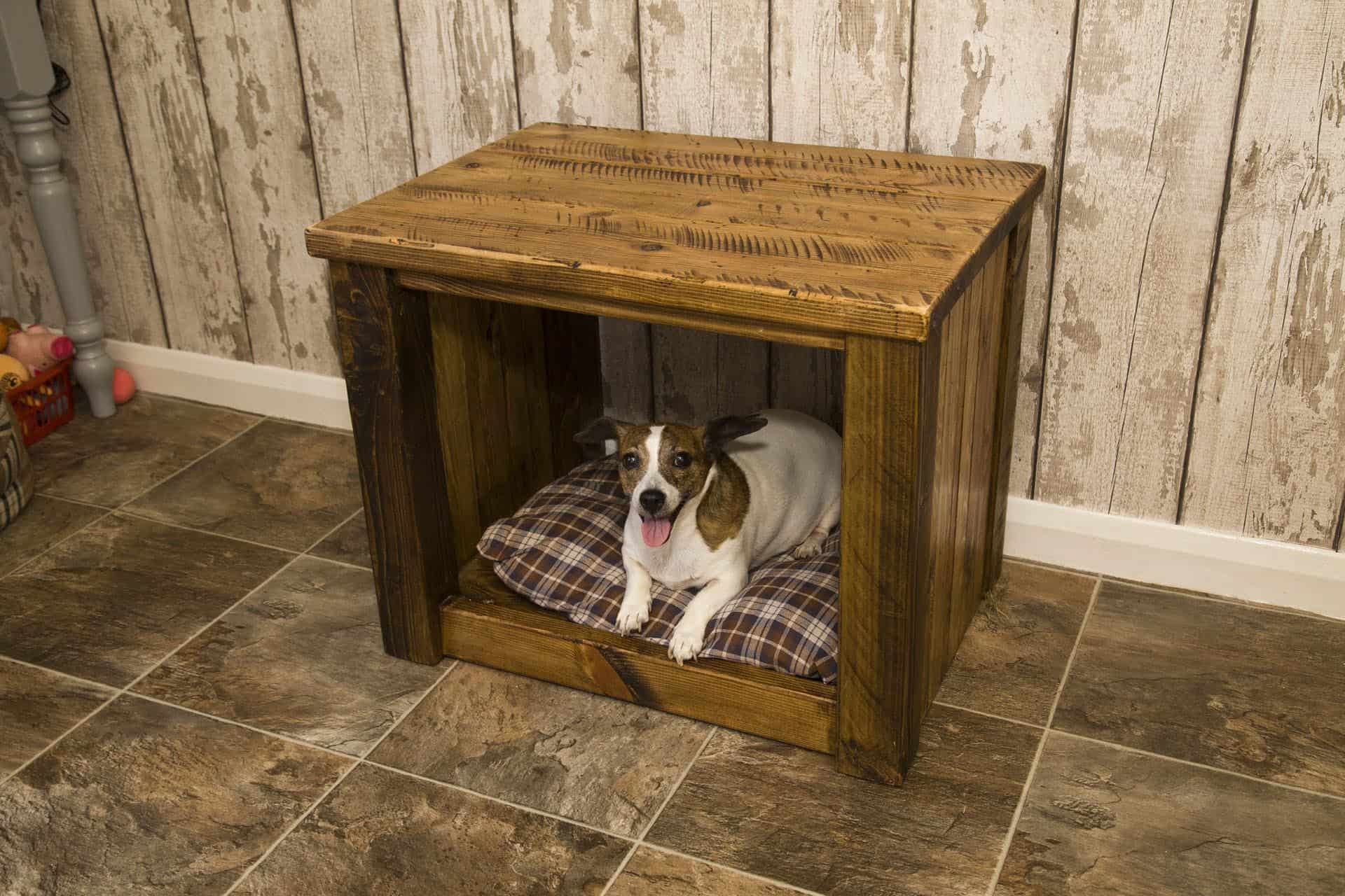 Sherwood Plank Rustic Dogs Bed coffee Table