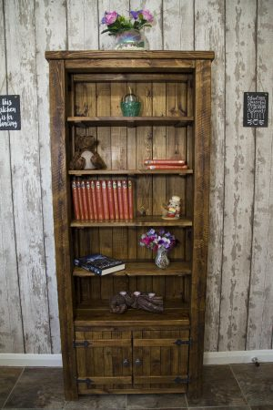 Tall Rustic Bookcase