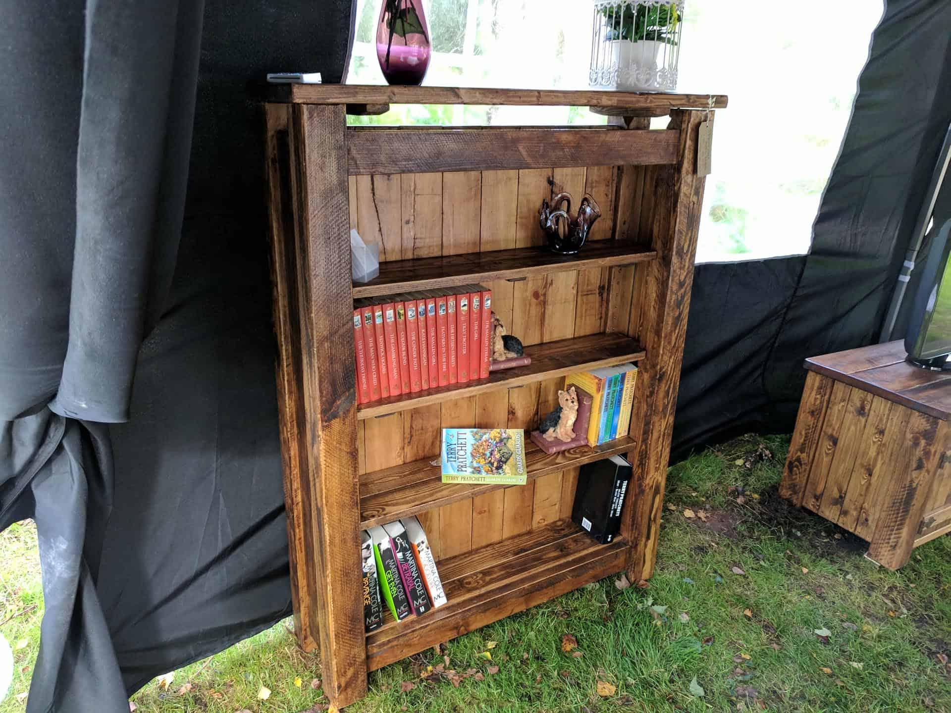 Rustic sherwood Plank bookcase
