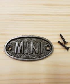 Mini Cooper Plaque